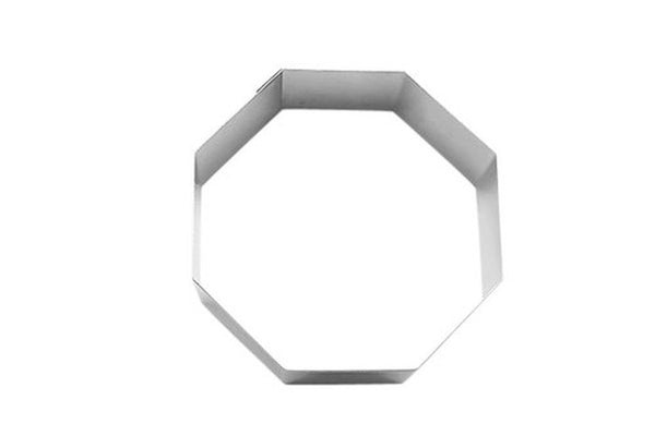 Octagon Cookie Cutter/Food Ring 9cm-Cookie Cutter Shop Australia
