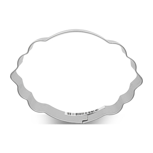 Oval Plaque 9cm Cookie Cutter-Cookie Cutter Shop Australia