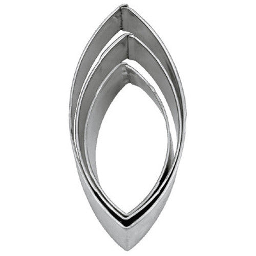 Oval with Pointed Ends, Marquise or Lens Set of 3 Cookie Cutters 4, 5 & 6cm-Cookie Cutter Shop Australia