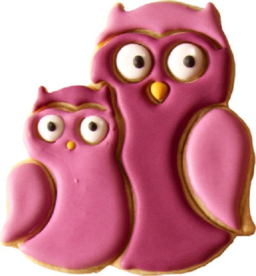 Kunti & Kromel Owls 9cm Cookie Cutter-Cookie Cutter Shop Australia