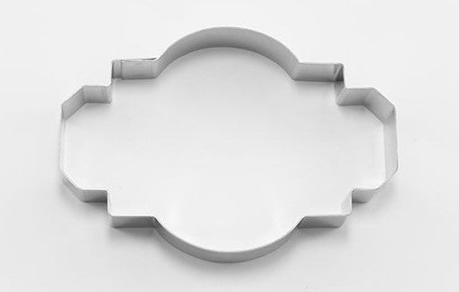 Ornate Rectangle Plaque Cookie Cutter  | Cookie Cutter Shop Australia