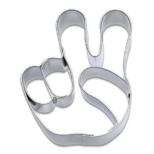 Peace Sign Hand Signal Cookie Cutter-Cookie Cutter Shop Australia