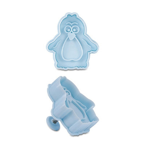 Penguin Plastic Embossed 6cm Cookie Cutter-Cookie Cutter Shop Australia