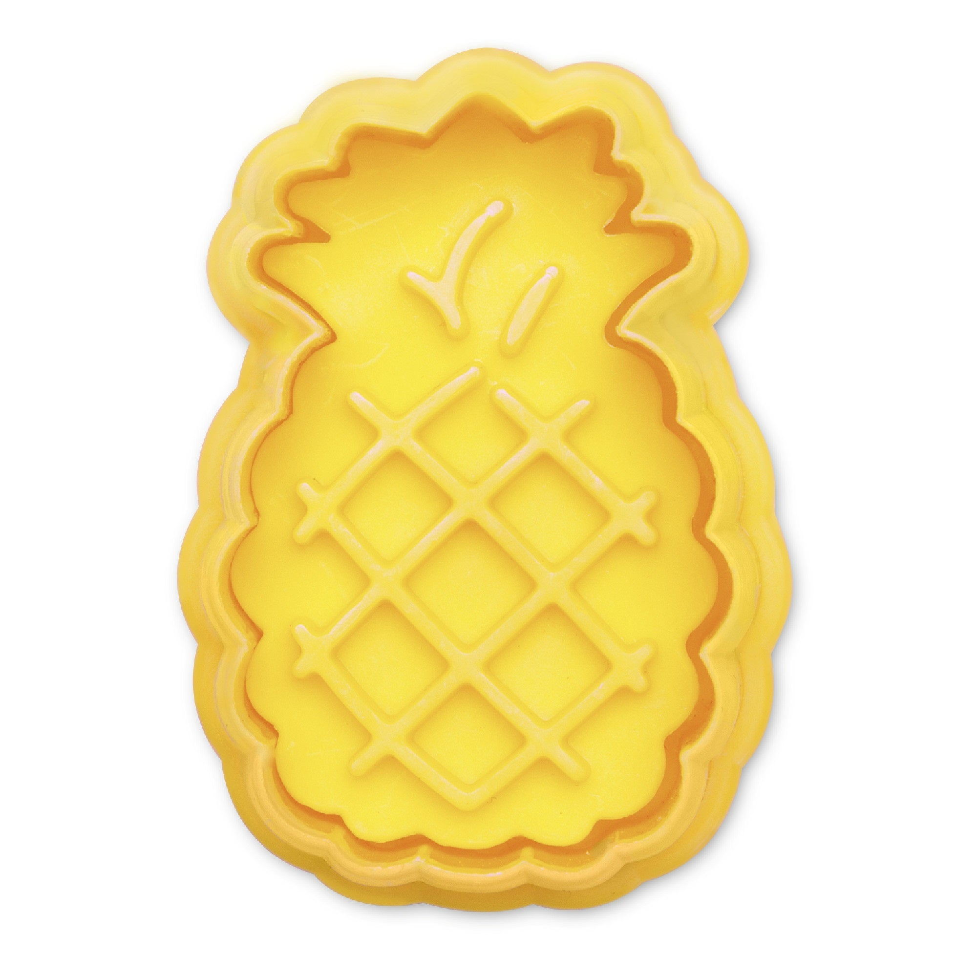 Pineapple Yellow 5cm Plastic Ejector Cookie Cutter