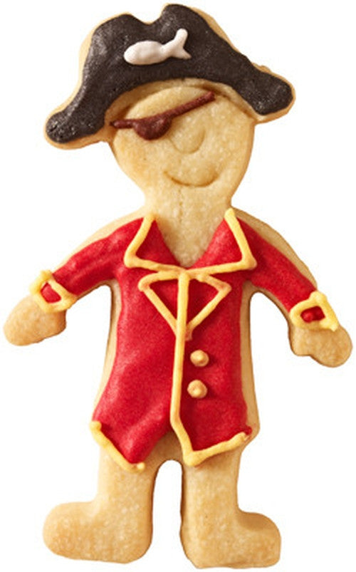 Pirate with Face Detail 9cm Cookie Cutter-Cookie Cutter Shop Australia