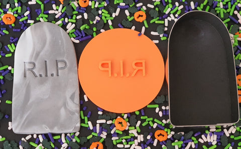 Halloween Cookie Cutter and Embosser Set 'RIP'