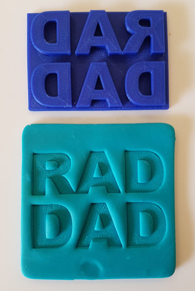 Rad Dad Cookie Embossing Stamp-Cookie Cutter Shop Australia
