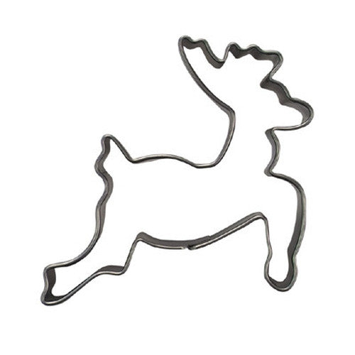 Reindeer Leaping 7cm Cookie Cutter-Cookie Cutter Shop Australia