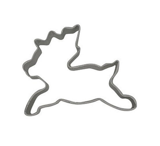 Leaping Reindeer 7.5cm White Cookie Cutter-Cookie Cutter Shop Australia
