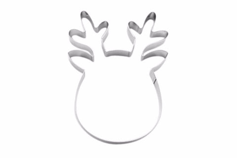 Rudolph Reindeer Head 12cm Cookie Cutter-Cookie Cutter Shop Australia