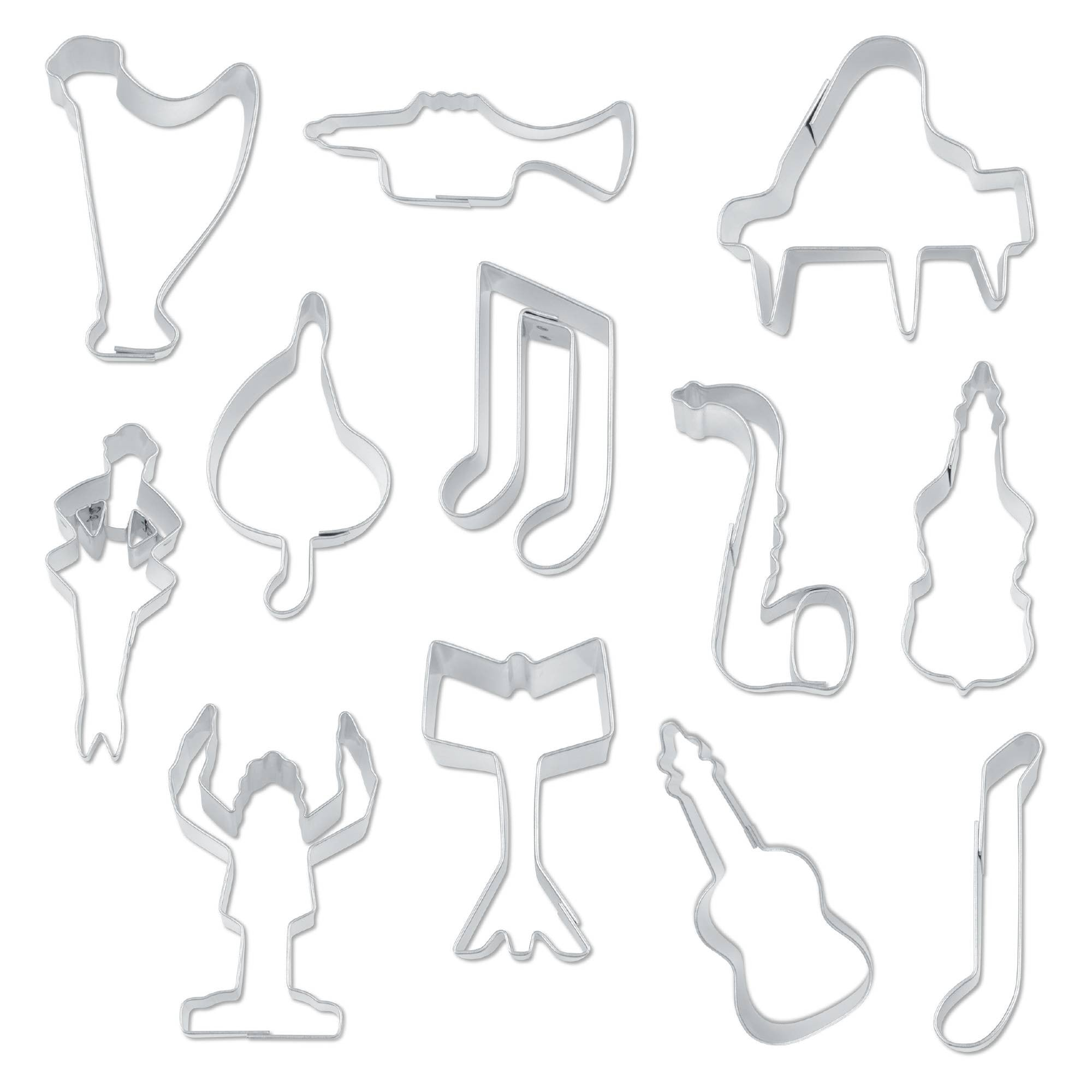 Musical Instruments Set of 12 Cookie Cutters 5-7 cm-Cookie Cutter Shop Australia