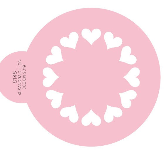 Cookie Stencil 'Hearts' | Cookie Cutter Shop Australia