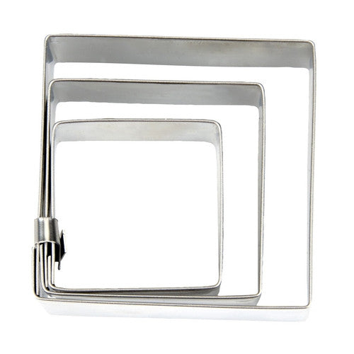 Square Set of 3 Cookie Cutters-Cookie Cutter Shop Australia