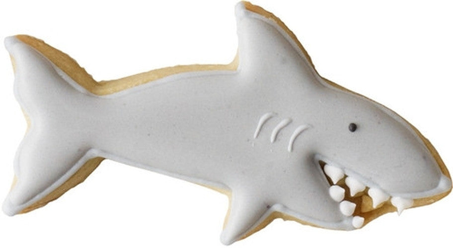 Shark with Teeth Detail 9cm Cookie Cutter-Cookie Cutter Shop Australia