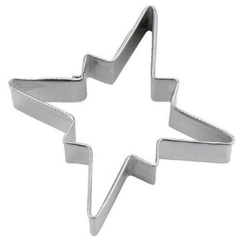 Snowflake 4 Points 6.5cm or Star of Bethlehem Cookie Cutter-Cookie Cutter Shop Australia