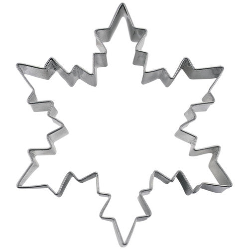 Snowflake Ice Crystal 9.5cm Stainless Steel Cookie Cutter-Cookie Cutter Shop Australia