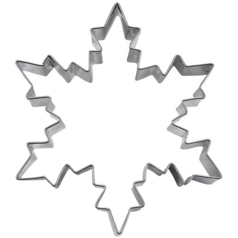 Snowflake Ice Crystal Cookie Cutter 8cm Stainless Steel | Cookie Cutter Shop Australia