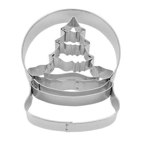 Snow Globe with Christmas Tree Internal Detail 8cm Cookie Cutter | Cookie Cutter Shop Australia
