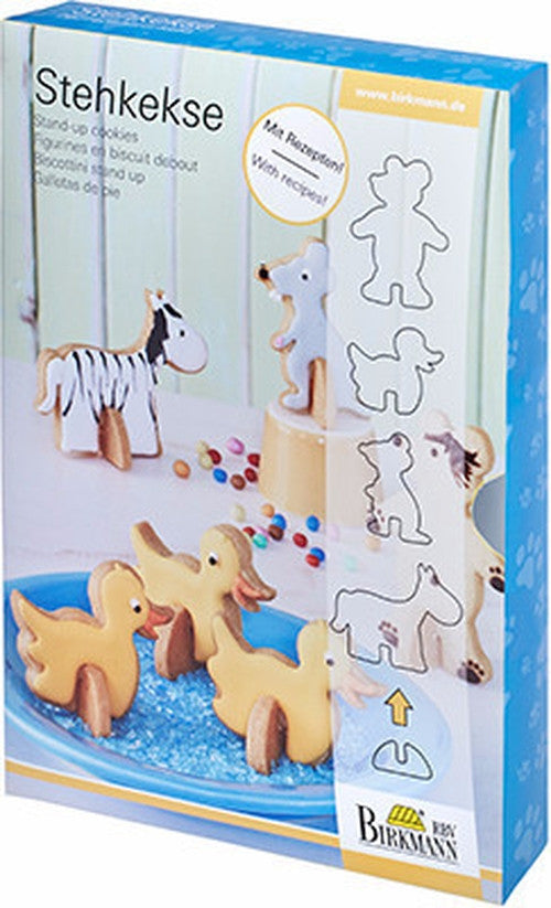 Stand Up Cookies Animals Set of 5 Cutters-Cookie Cutter Shop Australia