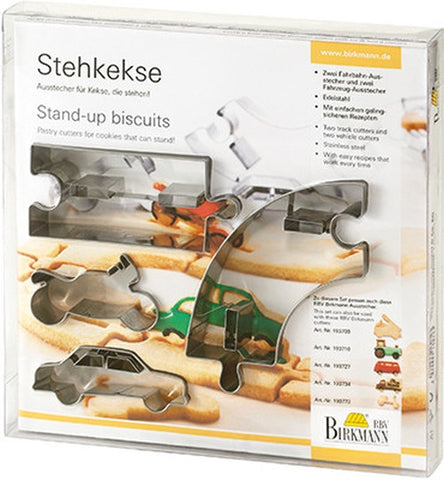 Stand Up Cookies Vehicles Set of 4 Cutters-Cookie Cutter Shop Australia