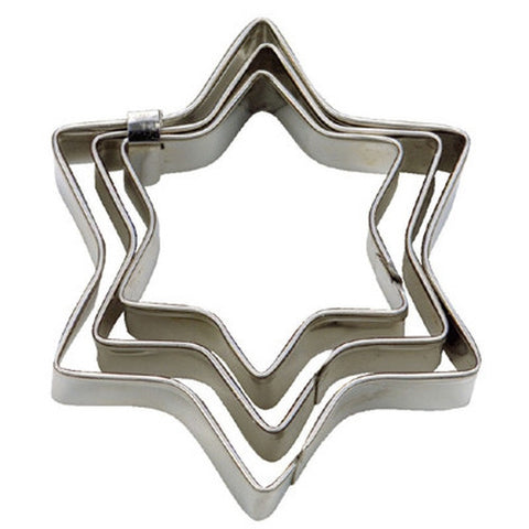Mini 6 Pointed Star Set of 3 Cookie Cutters 3, 4 & 5cm-Cookie Cutter Shop Australia