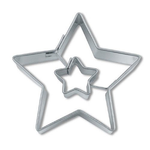 Star in Star 4cm Cookie Cutter-Cookie Cutter Shop Australia