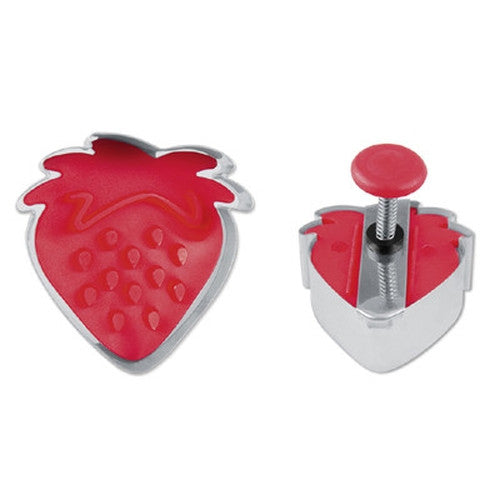 Strawberry Stamp and Cookie Cutter - 4.5cm-Cookie Cutter Shop Australia