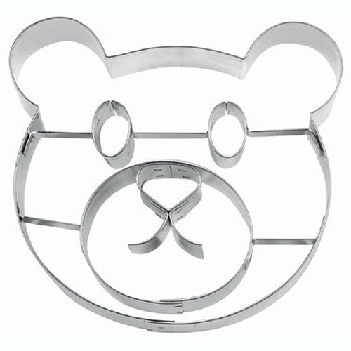 Teddy Bear Face 10.5cm Cookie Cutter-Cookie Cutter Shop Australia