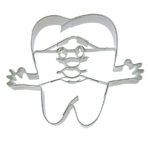 Tooth with Face Cookie Cutter-Cookie Cutter Shop Australia