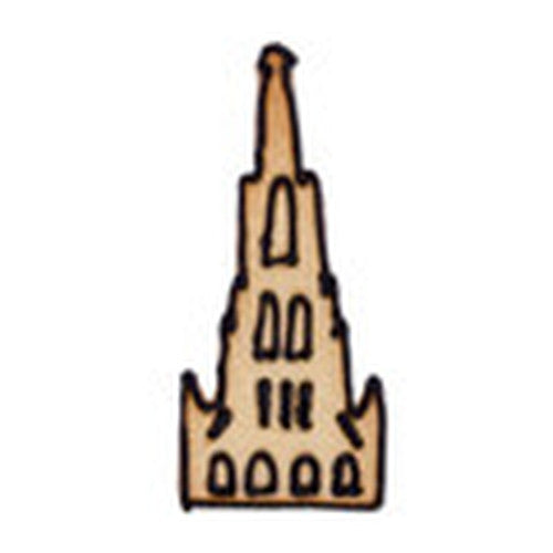 Ulm Cathedral 10cm Cookie Cutter-Cookie Cutter Shop Australia
