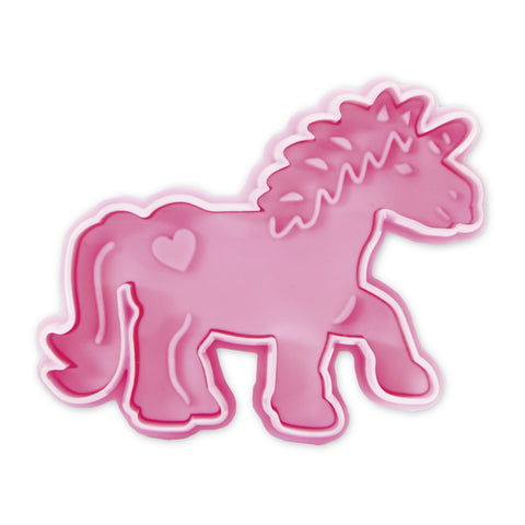 Unicorn Plastic Embossed 7cm Cutter & Stamp | Cookie Cutter Shop Australia