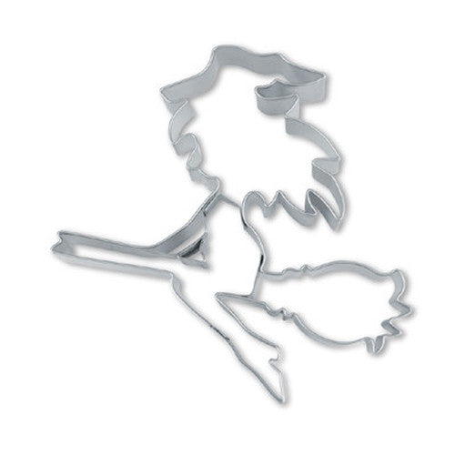 Witch on Broom 9cm Cookie Cutter-Cookie Cutter Shop Australia