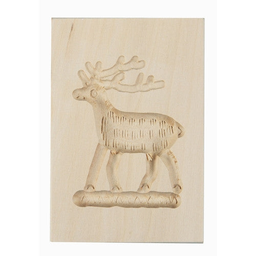 Wooden Cookie Mould Deer-Cookie Cutter Shop Australia