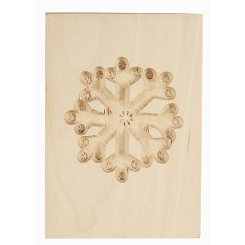 Wooden Cookie Mould Snowflake-Cookie Cutter Shop Australia