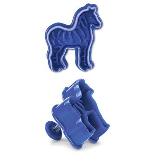 Zebra Plastic Embossed 5cm Cookie Cutter-Cookie Cutter Shop Australia