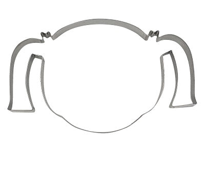 Girl Head With Pigtails 14cm Cookie Cutter-Cookie Cutter Shop Australia