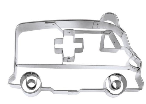 Ambulance Cookie Cutter with Embossed Detail