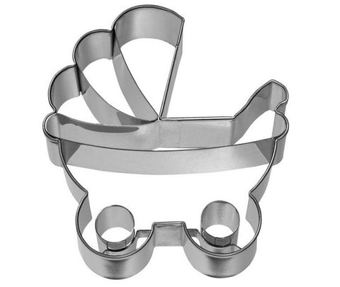 Baby Pram Cookie Cutter with Embossed Detail | Cookie Cutter Shop Australia