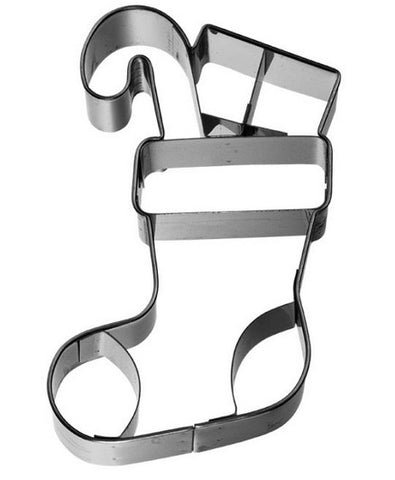Christmas Stocking Cookie Cutter with Embossed Detail | Cookie Cutter Shop Australia