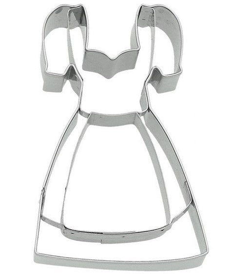 Dirndl Dress Cookie Cutter with Embossed Detail 9cm | Cookie Cutter Shop Australia