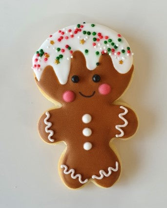 Gingerbread Man Cookie Cutter Large Head 10cm | Cookie Cutter Shop Australia
