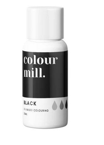 Colour Mill Black Oil Based Colouring 20ml | Cookie Cutter Shop Australia