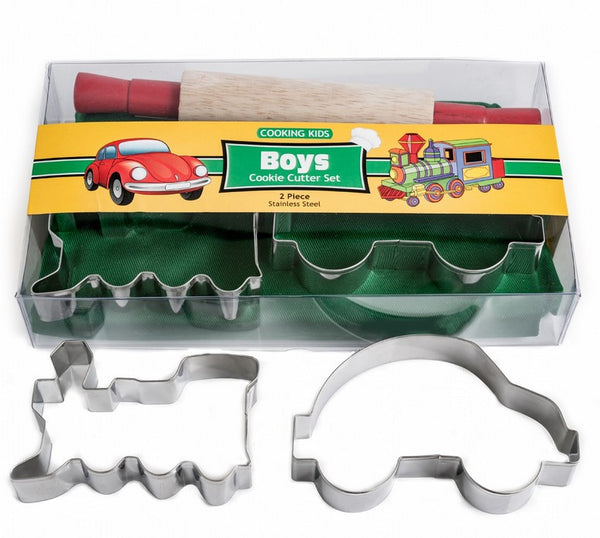 Boys Cookie Cutter Set 4 Pieces