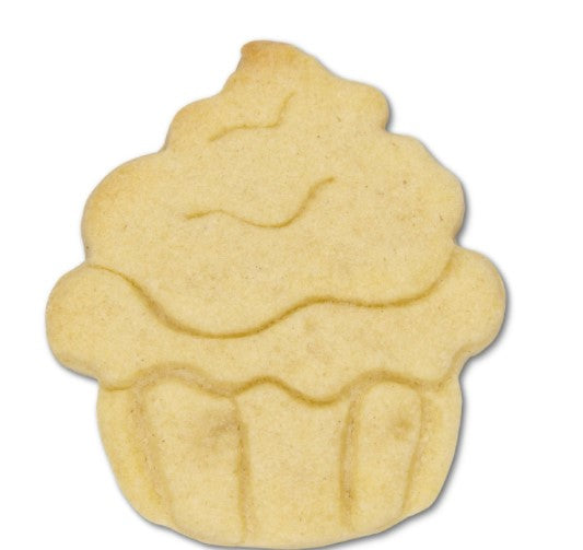 Cupcake Cookie Cutter with Embossed Detail 5.5cm