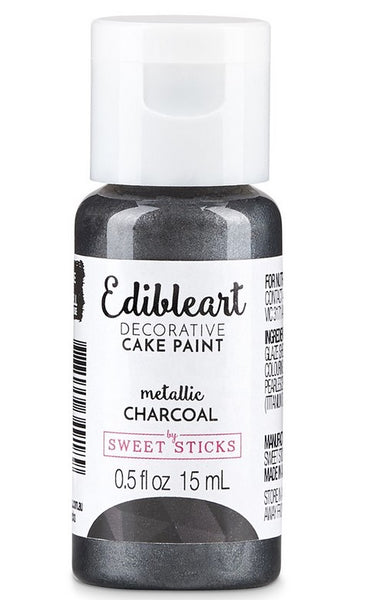 Edible Paint Metallic Charcoal