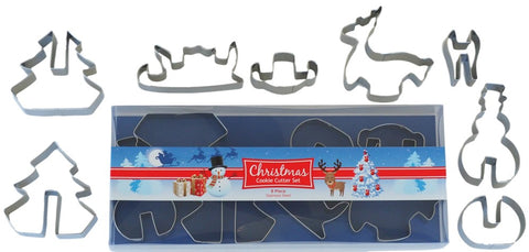 Christmas Stand Up Cookie Cutter Set 8 Pieces | Cookie Cutter Shop Australia