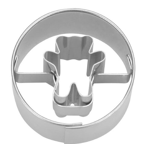 Bear in a Circle Cookie Cutter 3cm