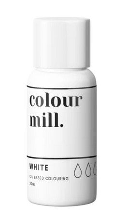 Colour Mill White Oil Based Colouring 20ml | Cookie Cutter Shop Australia