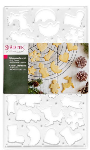 Christmas Cookie Cutter Board 27 Shapes | Cookie Cutter Shop Australia