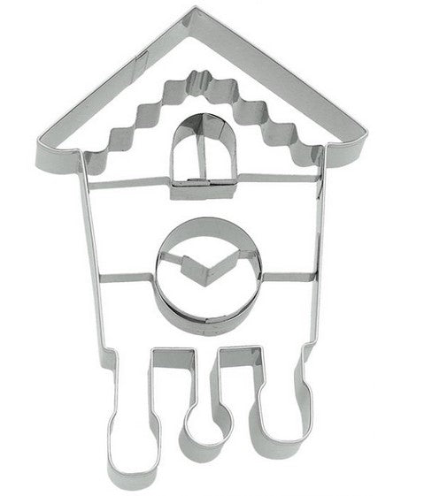 Cuckoo Clock Cookie Cutter with Embossed Detail